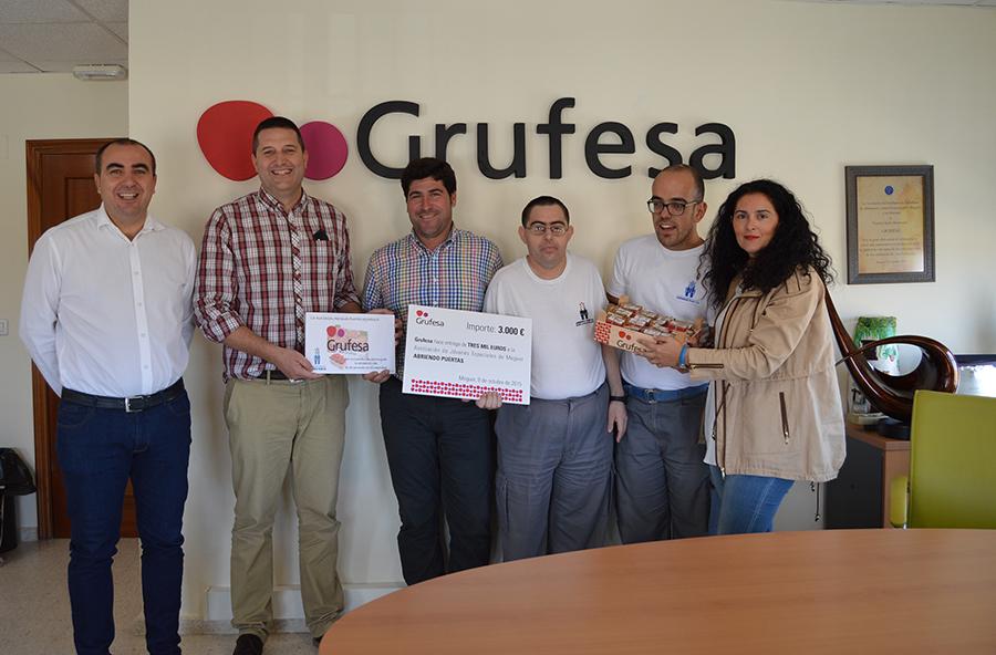 Grufesa colabora con Abriendo Puertas para mejorar la maquinaria del Centro Especial de Empleo
