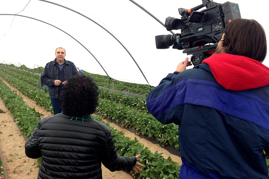 Grufesa muestra el entorno rural de Moguer en el programa de Televisión Española 'Agrosfera'