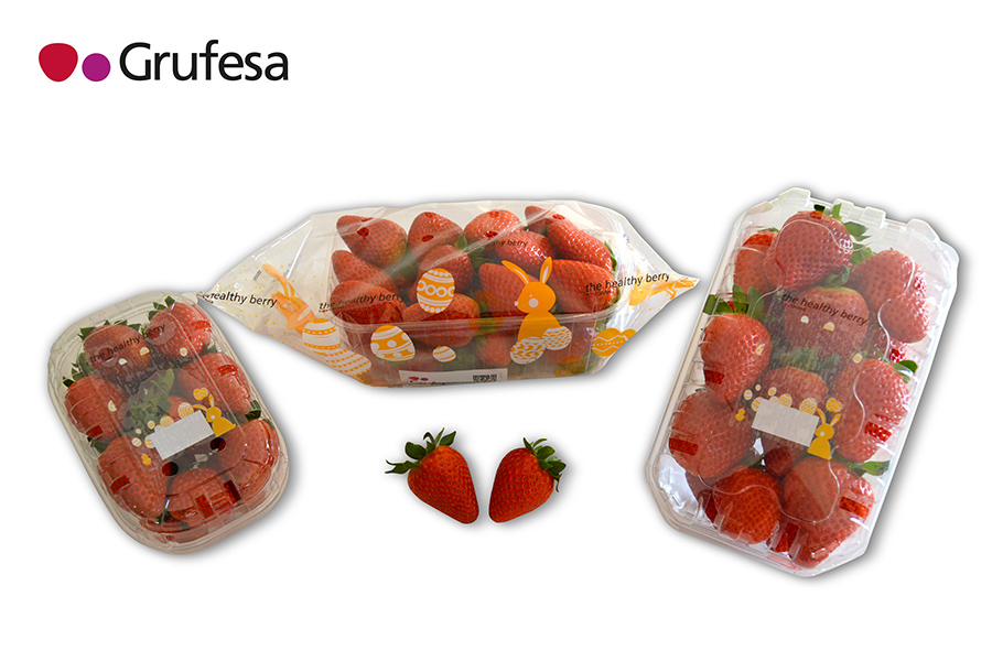 Grufesa introduces a new special packaging to celebrate Easter with strawberries